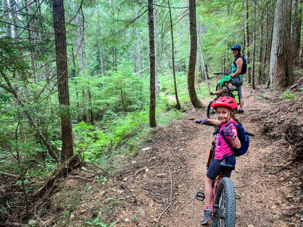 easy mountain biking in canada for kids - Revelstoke, BC - Mount Macpherson area