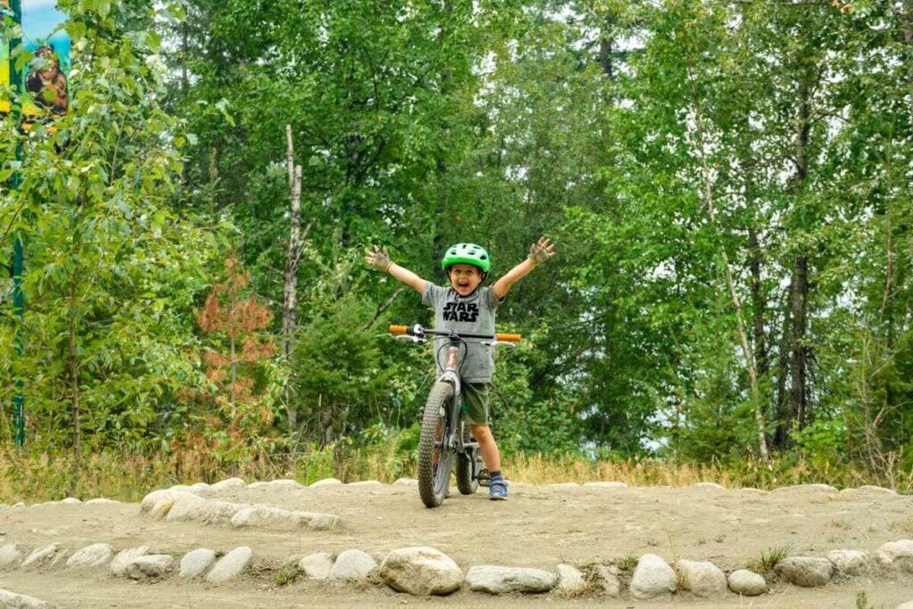 mount revelstoke bike park for kids