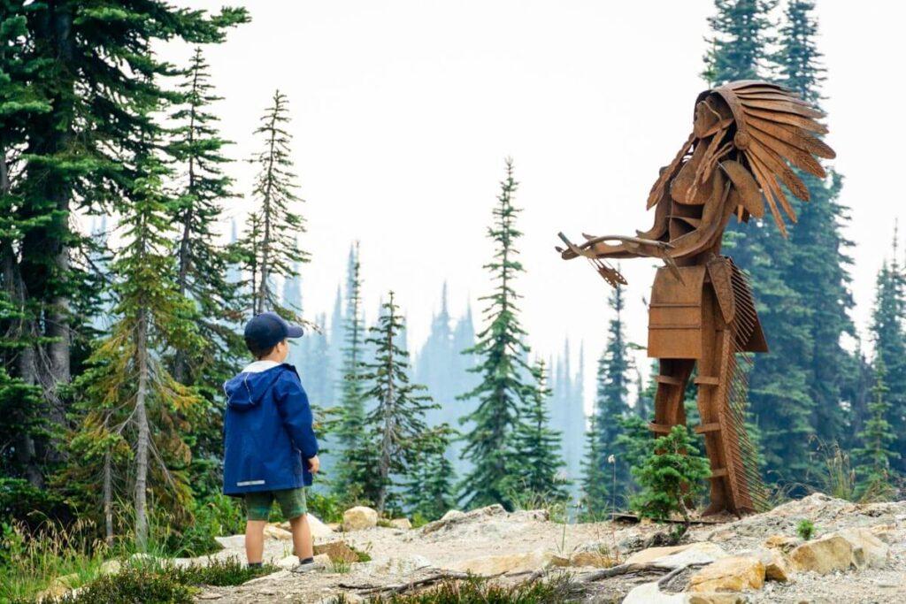 easy kid-friendly hikes near revelstoke - First Footsteps Trail in Mount Revelstoke National Park