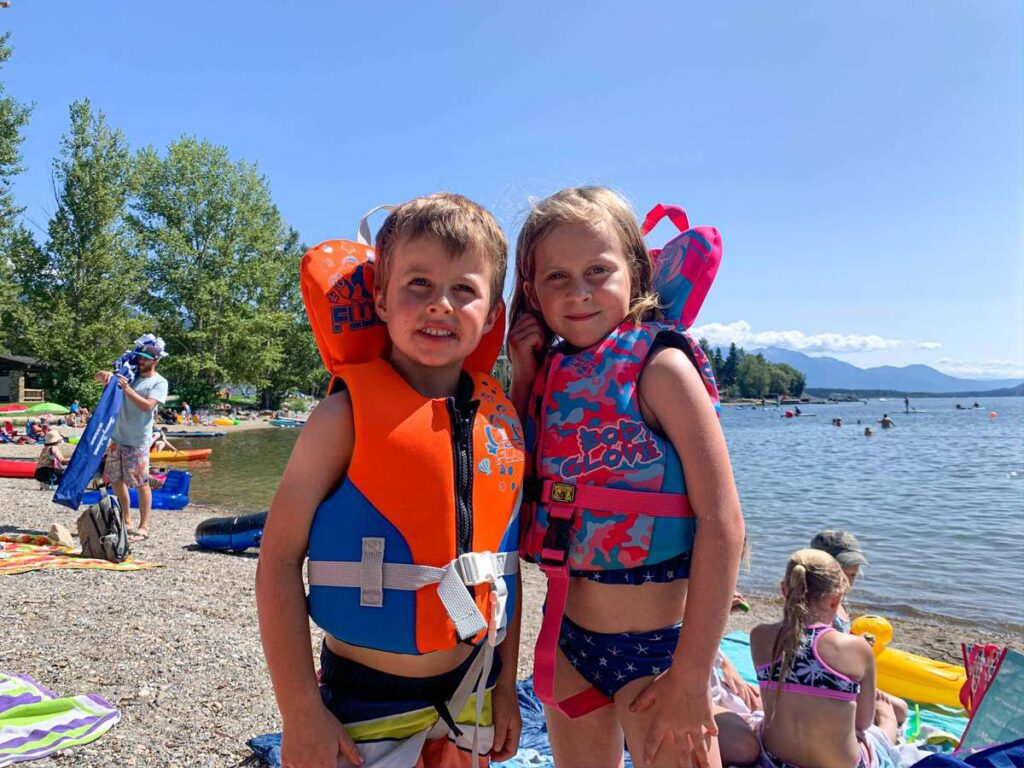 Spending time on an Invermere beach will be one of the highlights of your family vacation to the Columbia Valley, BC