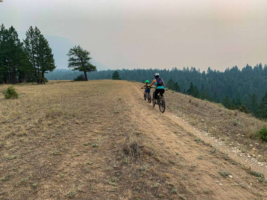 Deja View is one of the best kid-friendly mountain bike trails near Invermere, BC