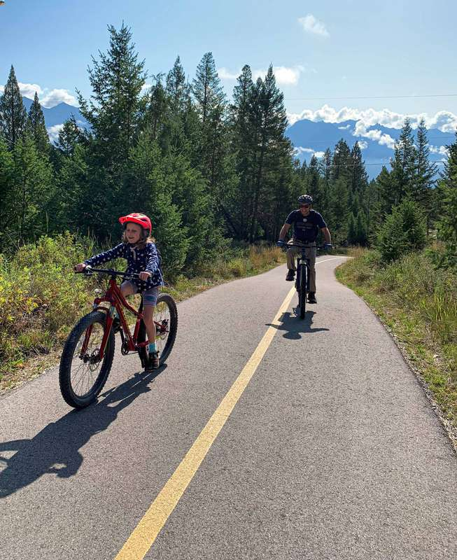 cycling with kids on the Fairmont to Invermere Legacy Trail