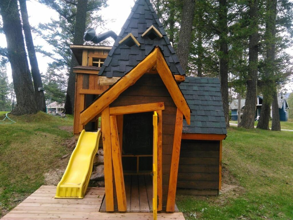 This unique playground at the Fairmont Mountain Bungalows makes it a fun family-friendly hotel near Invermere, BC