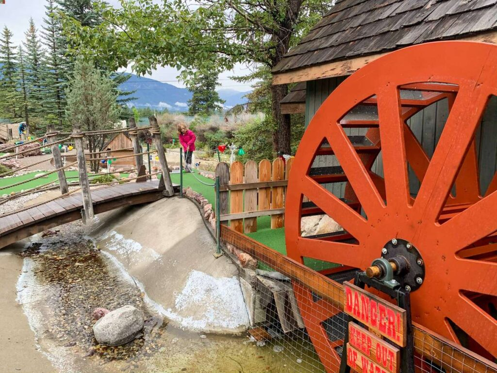 the kids loved playing mini golf in Invermere, BC