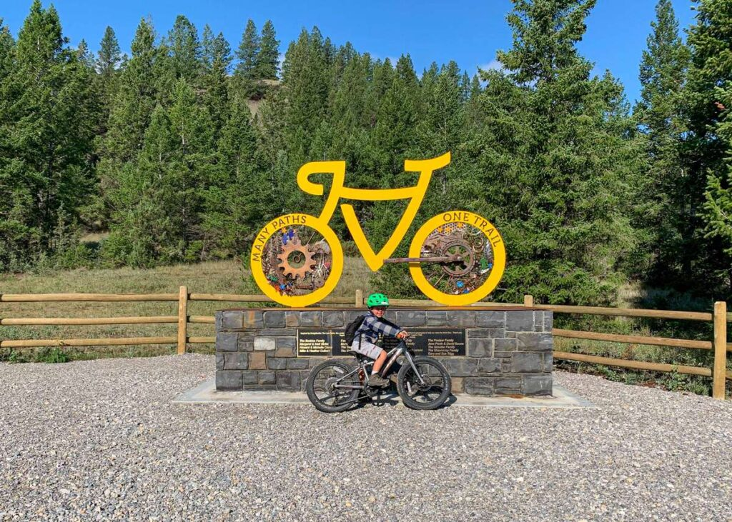 cycling the Fairmont to Invermere Legacy Trail with kids